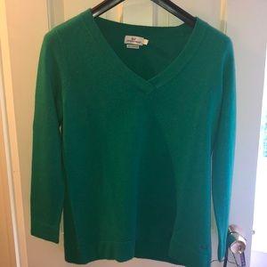 Vineyard Vines Cashmere Emerald Green Sweater